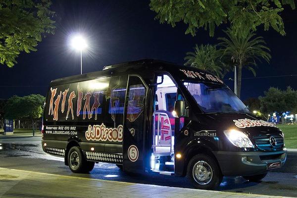Mini Discobus negro en Alicante
