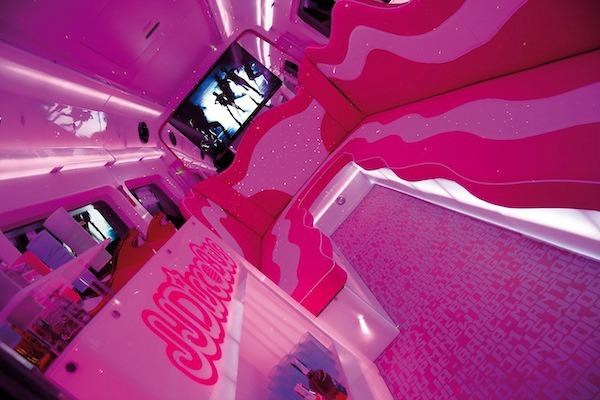 iluminación rosa especial para despedidas de soltera