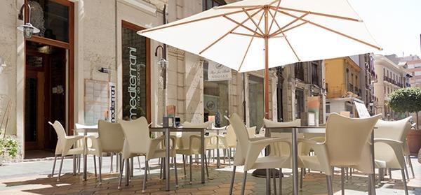 Terraza del restaurante para despedidas en Alicante